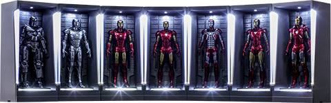 Hot Toys Iron Man Hall of Armor Miniature Collectible Set
