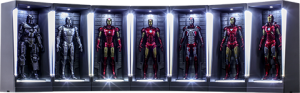 Iron Man Hall of Armor Miniature Collectible Set