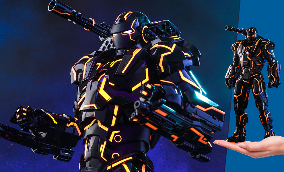 Gallery Feature Image of Neon Tech War Machine Sixth Scale Figure - Click to open image gallery