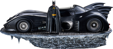 Iron Studios Batman & Batmobile Deluxe Collectible Set