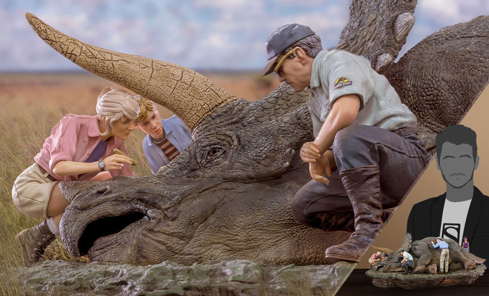 Gallery Feature Image of Triceratops Deluxe Diorama - Click to open image gallery