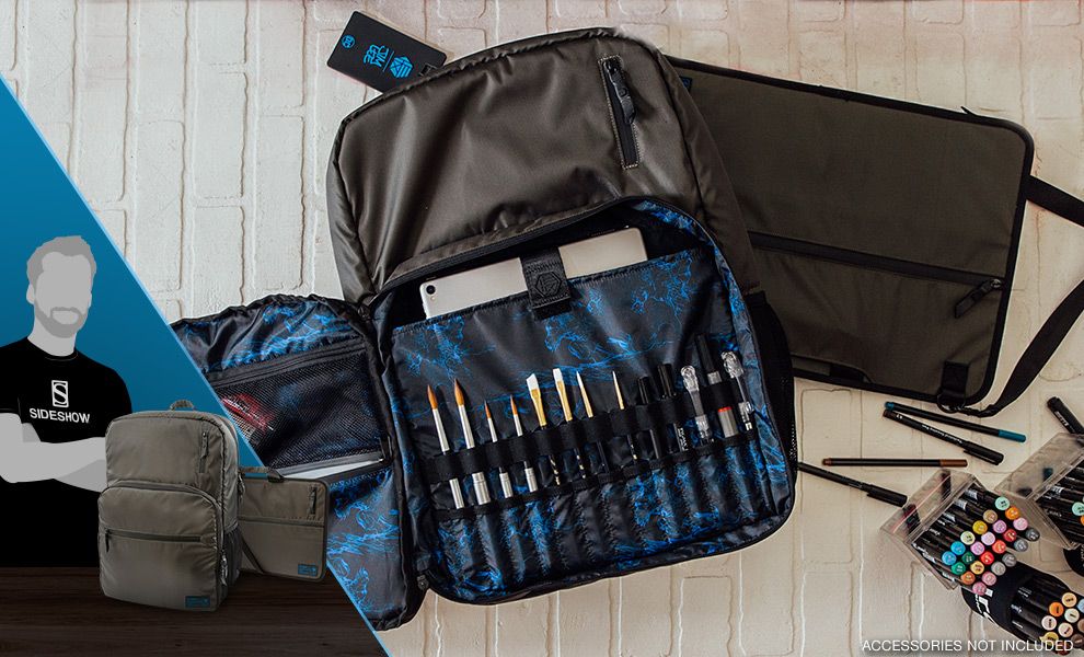 Gallery Feature Image of HEX x Jim Lee Artist Backpack and Portfolio Apparel - Click to open image gallery