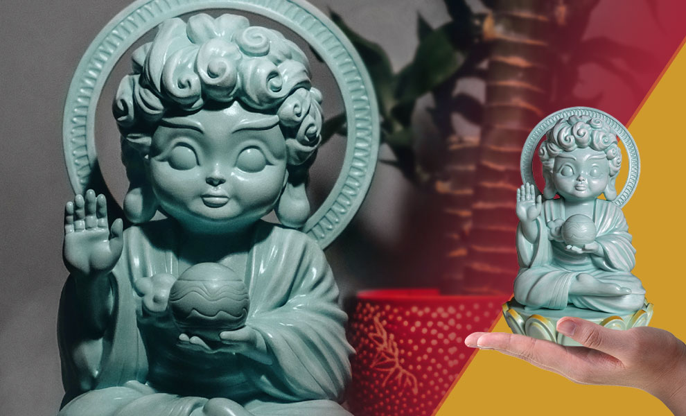 Gallery Feature Image of Hambuddha (Celadon) Vinyl Collectible - Click to open image gallery