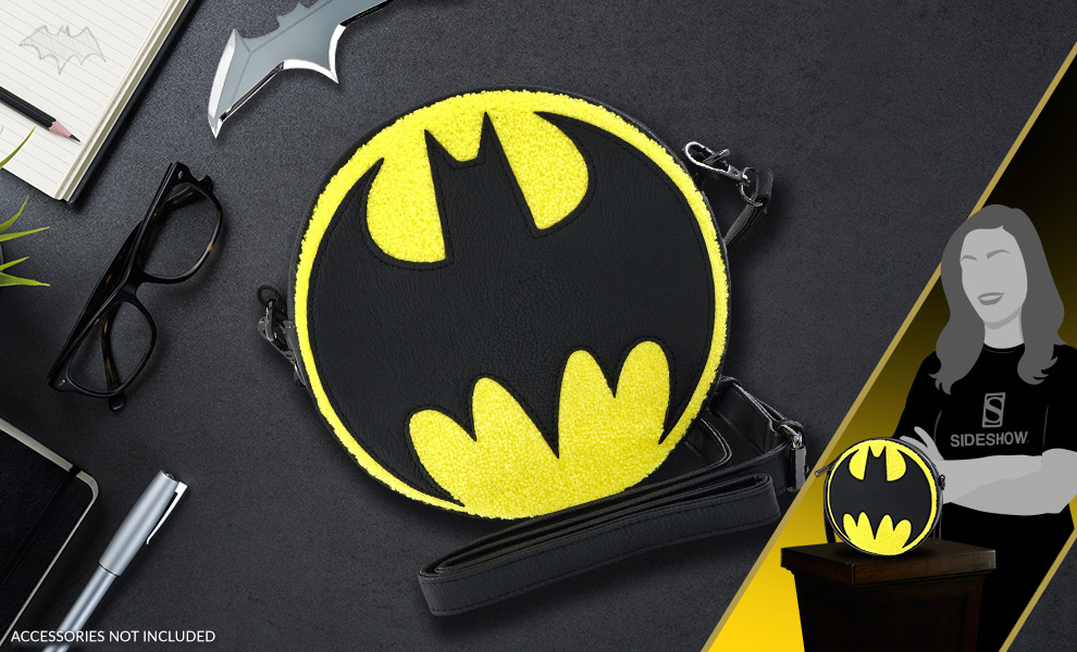 Gallery Feature Image of Bat Signal Crossbody Apparel - Click to open image gallery