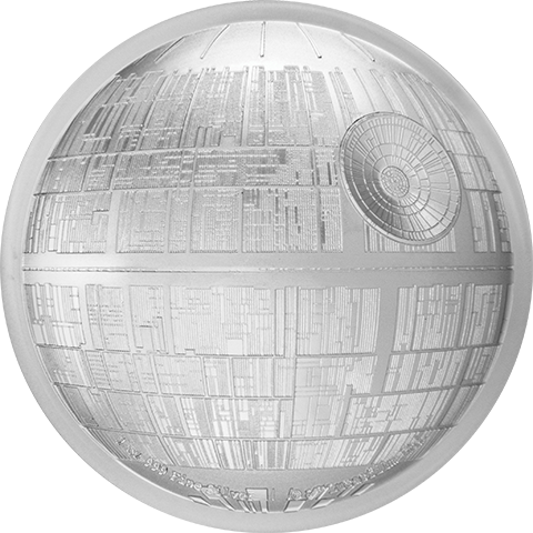 New Zealand Mint Death Star Silver Coin Silver Collectible