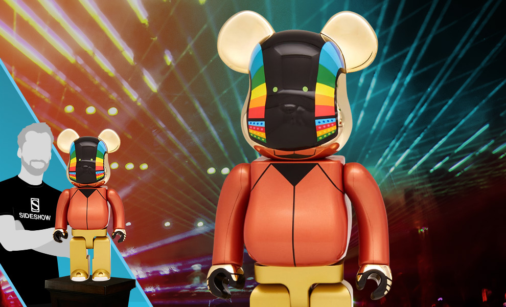 Gallery Feature Image of Be@rbrick Daft Punk: Guy-Manuel de Homem-Christo 1000% (Discovery Version) Figure - Click to open image gallery