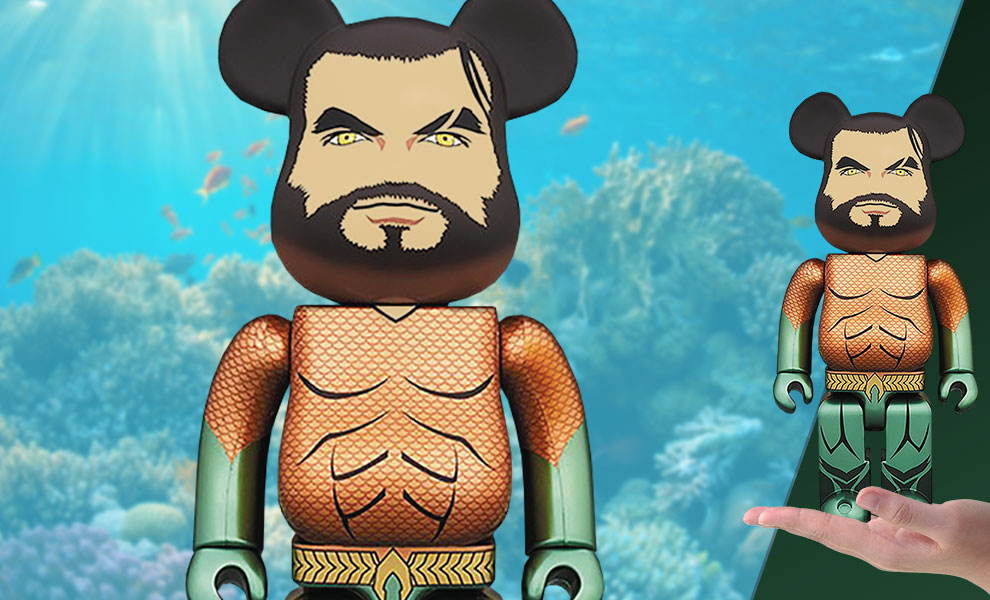 Gallery Feature Image of Be@rbrick Aquaman 400% Figure - Click to open image gallery