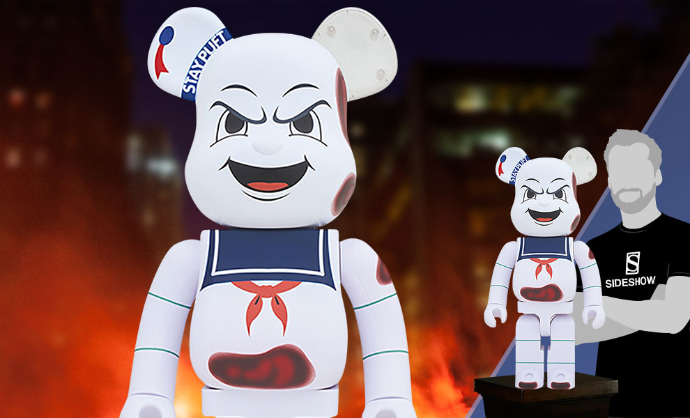 "Gallery Feature Image of Be@rbrick Stay Puft Marshmallow Man ""Anger Face"" 1000% Figure - Click to open image gallery"