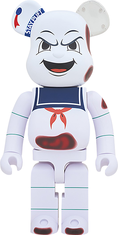 "Medicom Toy Be@rbrick Stay Puft Marshmallow Man ""Anger Face"" 1000% Figure"