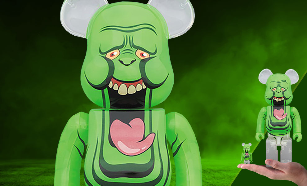 Gallery Feature Image of Be@rbrick Slimer (Green Ghost) 100% and 400% Collectible Set - Click to open image gallery