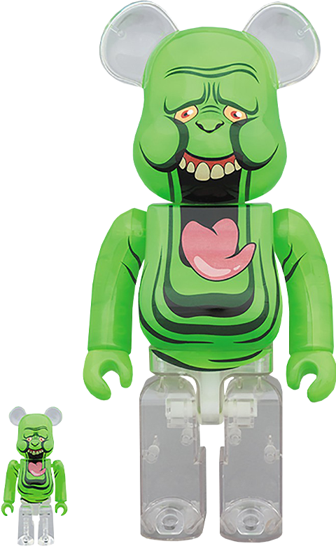 Medicom Toy Be@rbrick Slimer (Green Ghost) 100% and 400% Collectible Set