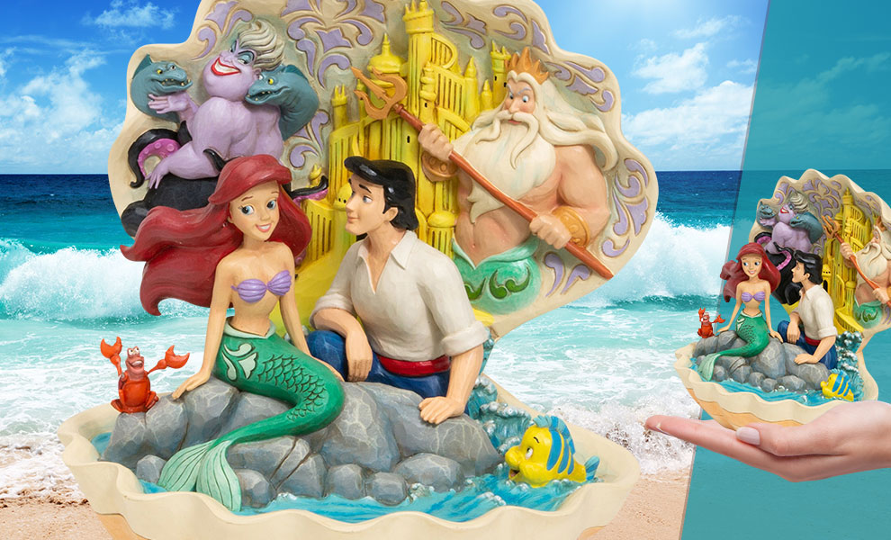 Gallery Feature Image of The Little Mermaid Shell Scene Figurine - Click to open image gallery