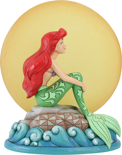 Enesco, LLC Ariel Sitting on Rock by Moon Figurine