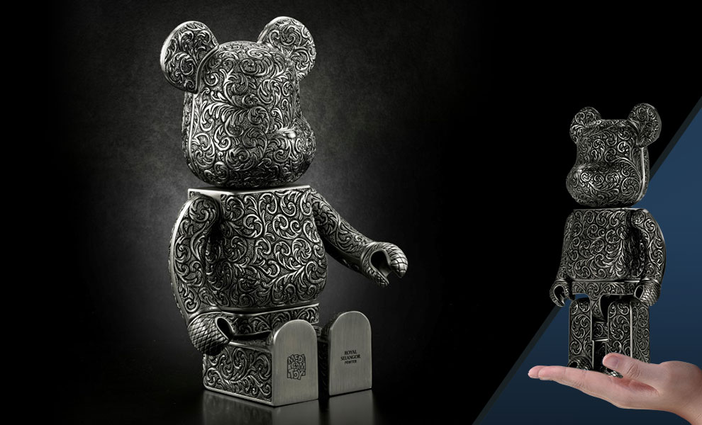 Gallery Feature Image of Be@rbrick Royal Selangor (Arabesque Black) 400% Figure - Click to open image gallery