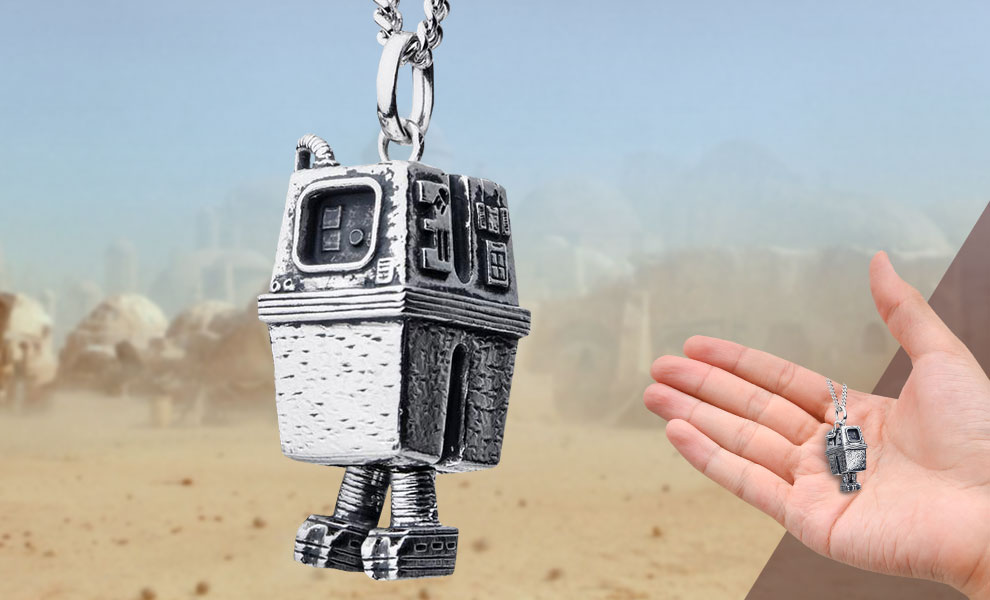 Gallery Feature Image of Gonk Droid Necklace Jewelry - Click to open image gallery