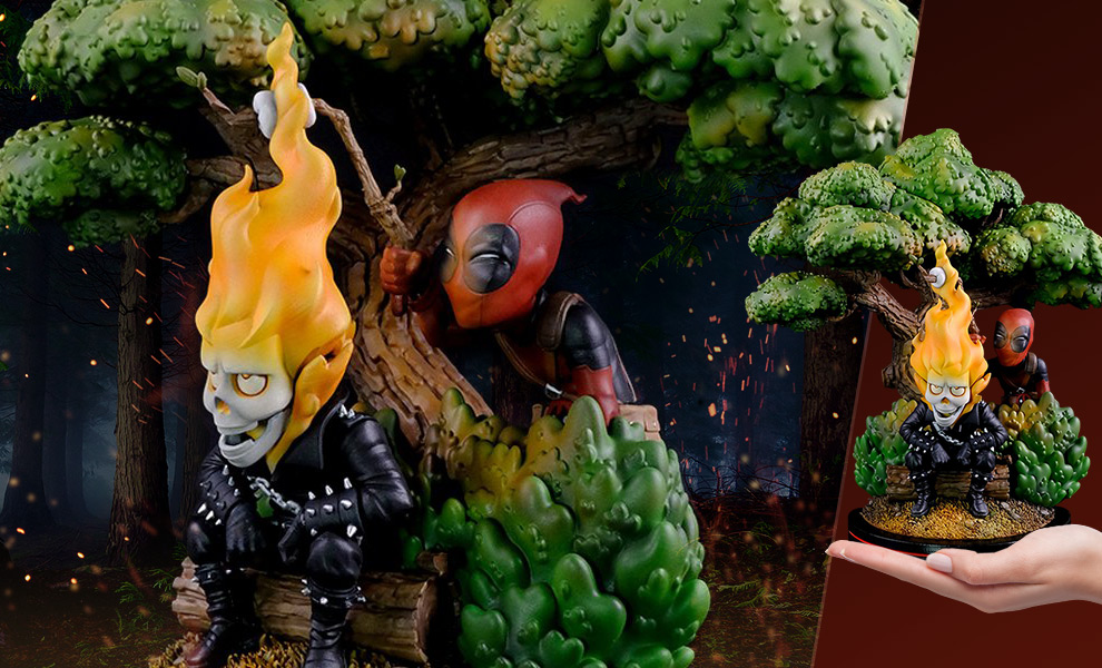 Gallery Feature Image of Deadpool x Ghost Rider Q-Master Diorama - Click to open image gallery