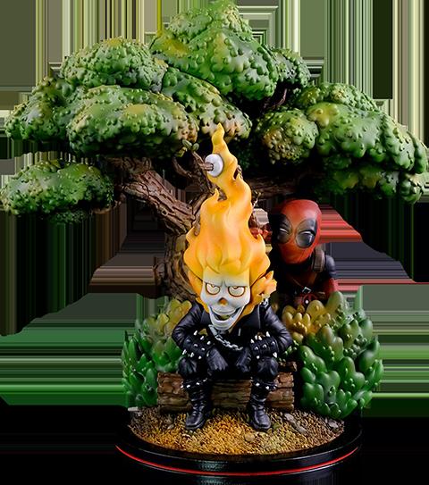 Quantum Mechanix Deadpool x Ghost Rider Q-Master Diorama