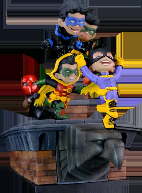 Quantum Mechanix Batman Family Knight Out Q-Master Diorama