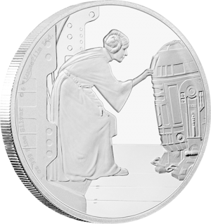 Princess Leia Organa Silver Coin Silver Collectible