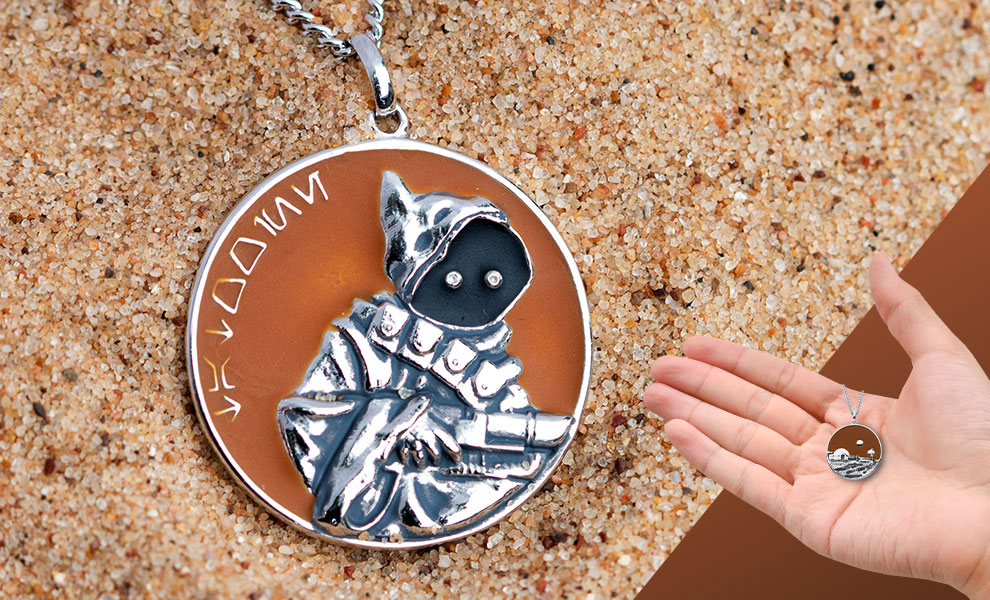 Gallery Feature Image of Tatooine Planetary Medallion Jewelry - Click to open image gallery