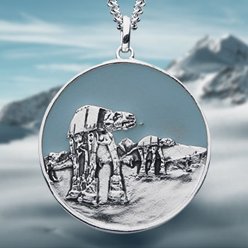 Hoth Planetary Medallion Jewelry
