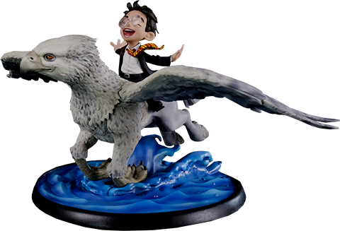 Quantum Mechanix Harry Potter and Buckbeak Q-fig Max Collectible Figure