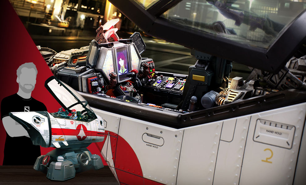 Gallery Feature Image of Robotech Macross VF-1J Cockpit Diorama - Click to open image gallery