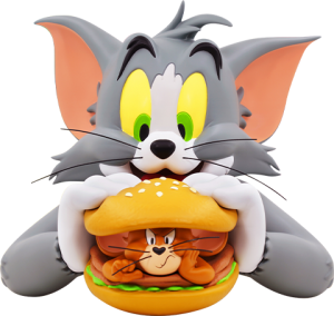 Tom and Jerry Burger Bust
