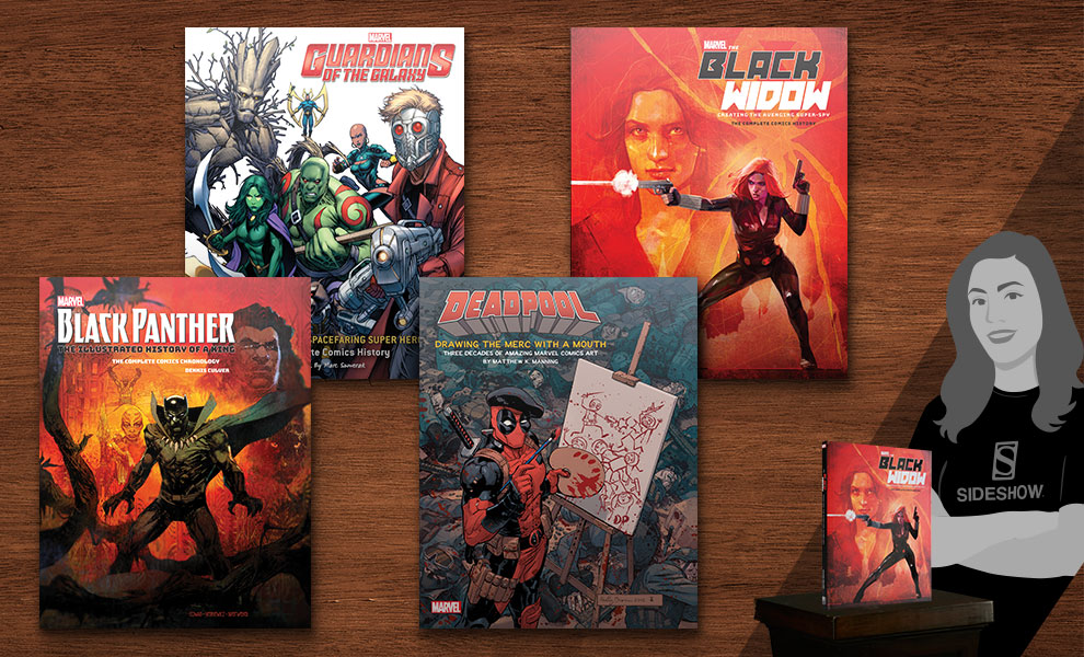 Gallery Feature Image of Marvel Comics Art Books Collection Book - Click to open image gallery