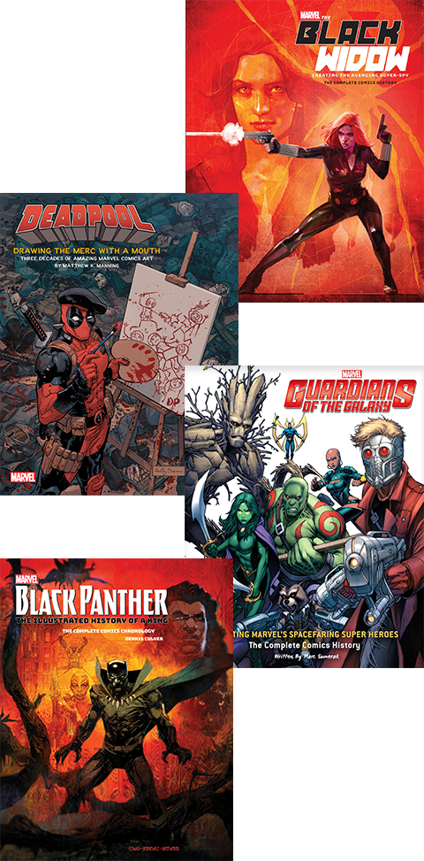 Insight Editions Marvel Comics Art Books Collection Book