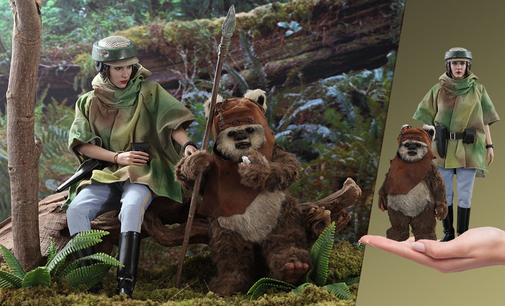 Gallery Feature Image of Princess Leia & Wicket Sixth Scale Figure Set - Click to open image gallery