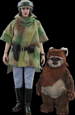 Princess Leia & Wicket Sixth Scale Figure Set
