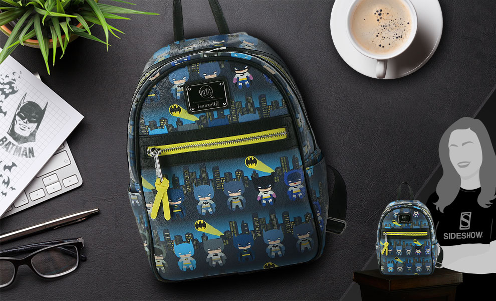 Gallery Feature Image of Batman 80th Anniversary Chibi Mini Backpack Apparel - Click to open image gallery