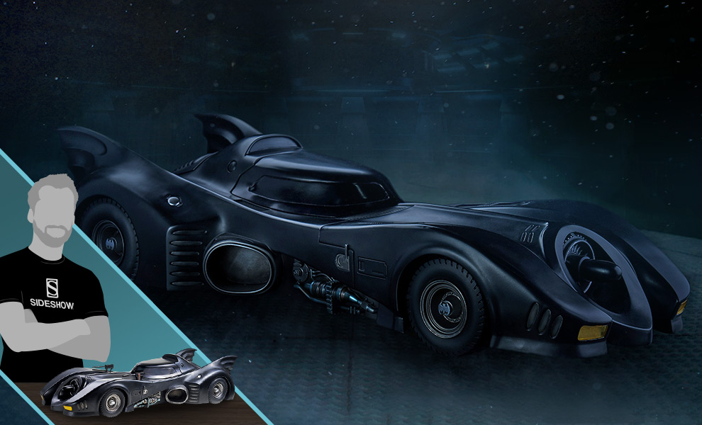 Gallery Feature Image of Batmobile 1:10 Scale Statue - Click to open image gallery