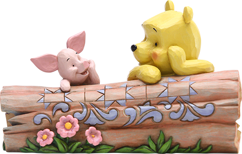Enesco, LLC Pooh and Piglet by Log Figurine