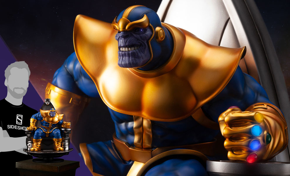 Gallery Feature Image of Thanos on Space Throne Statue - Click to open image gallery