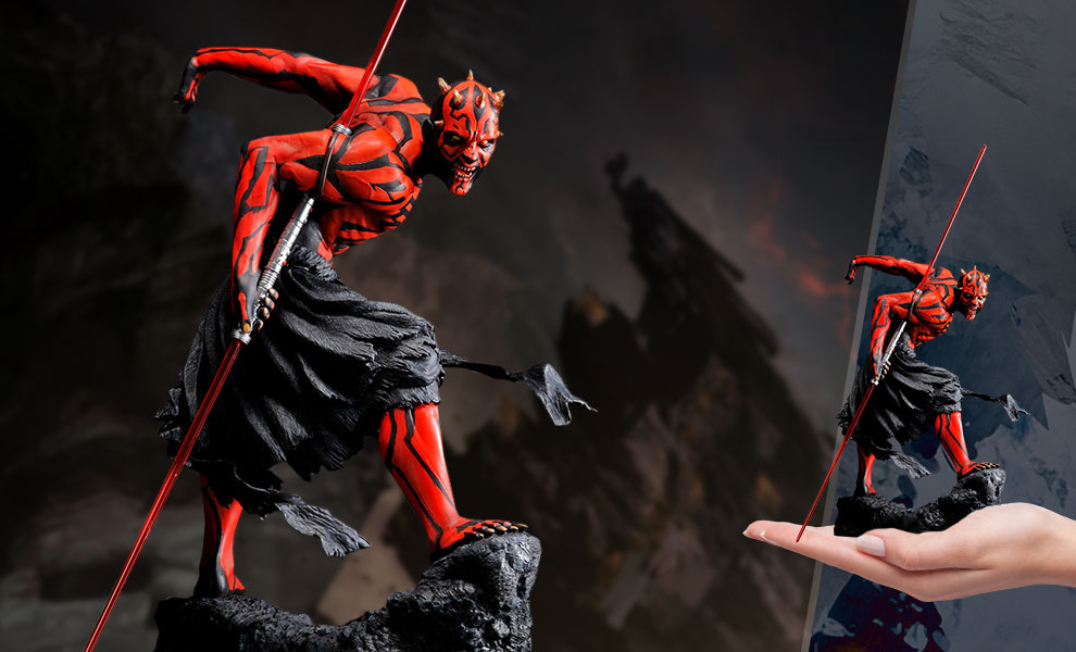 Gallery Feature Image of Darth Maul (Japanese Ukiyo-e Style) Statue - Click to open image gallery