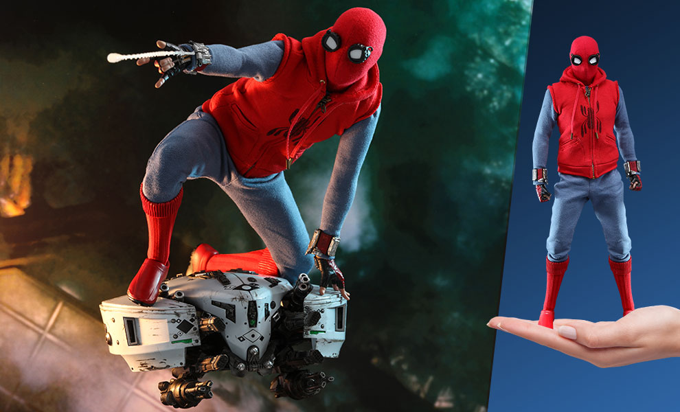 Gallery Feature Image of Spider-Man (Homemade Suit) Sixth Scale Figure - Click to open image gallery