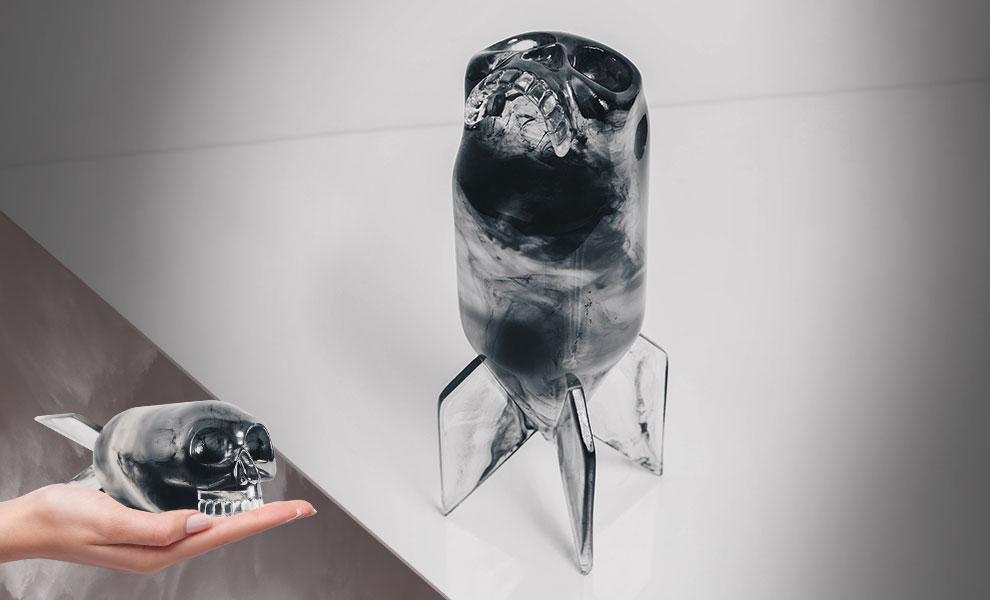 """Skull Bomb Phantom Edition 8/"""" Clear Resin Art Toy by Jason Freeny x Mighty Jaxx"""