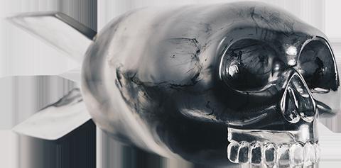 Mighty Jaxx Skull Bomb (Phantom Edition) Designer Toy