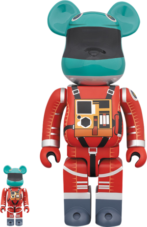 Be@rbrick Space Suit (Green Helmet & Orange Suit Version) 100% and 400% Collectible Set