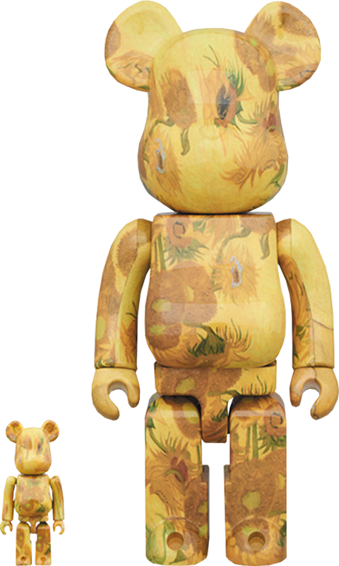 Medicom Toy Be@rbrick Van Gogh Museum Sunflowers 100% and 400% Collectible Set