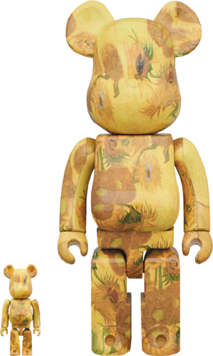 Be@rbrick Van Gogh Museum Sunflowers 100% and 400% Collectible Set