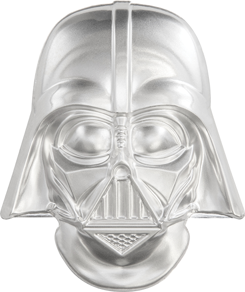 New Zealand Mint Darth Vader Helmet Coin Silver Collectible