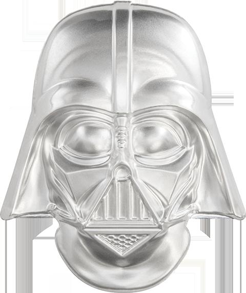 Darth Vader Helmet 2oz Silver Coin Sideshow Collectibles