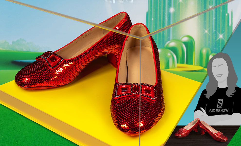 Gallery Feature Image of Dorothy's Ruby Slippers (Yellow Brick Road Edition) Replica - Click to open image gallery