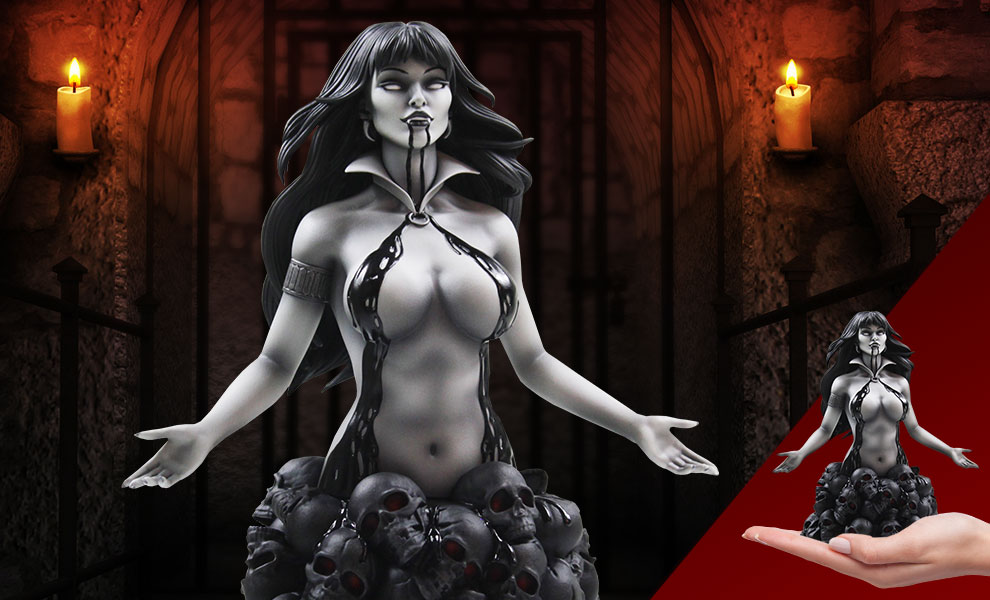 Gallery Feature Image of Vampirella (Underworld Variant) Bust - Click to open image gallery