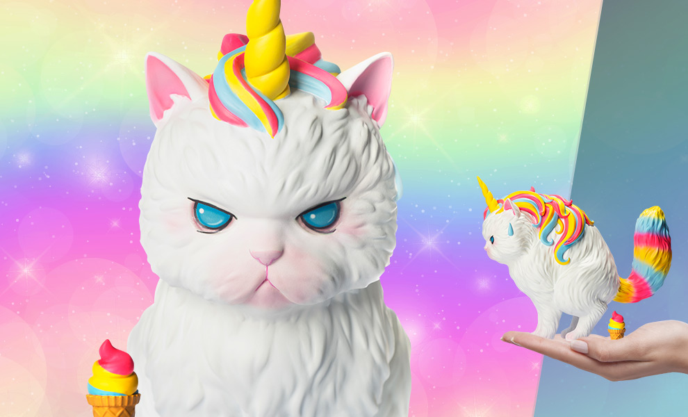 Gallery Feature Image of Unicat (Rainbow Ice-Cream) Vinyl Collectible - Click to open image gallery