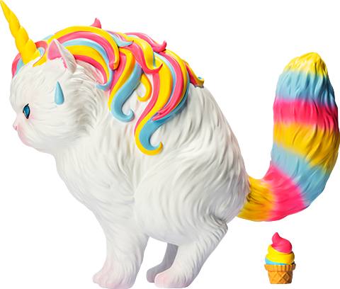 Soap Studio Unicat (Rainbow Ice-Cream) Vinyl Collectible