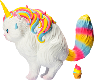 Unicat (Rainbow Ice-Cream) Vinyl Collectible